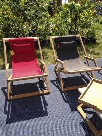 Chaise chilienne rouge de Tectona