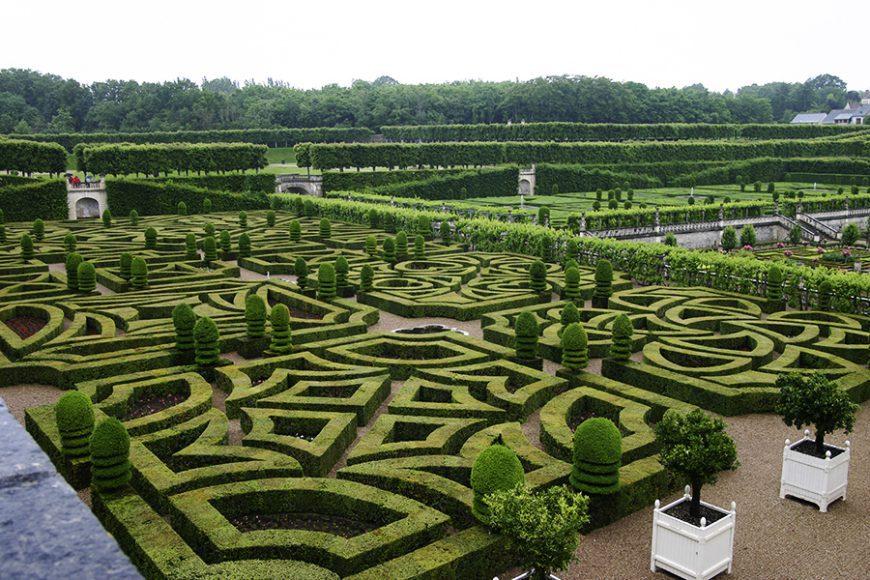 Styles de jardins - Jardin à la française du château de Villandry - France