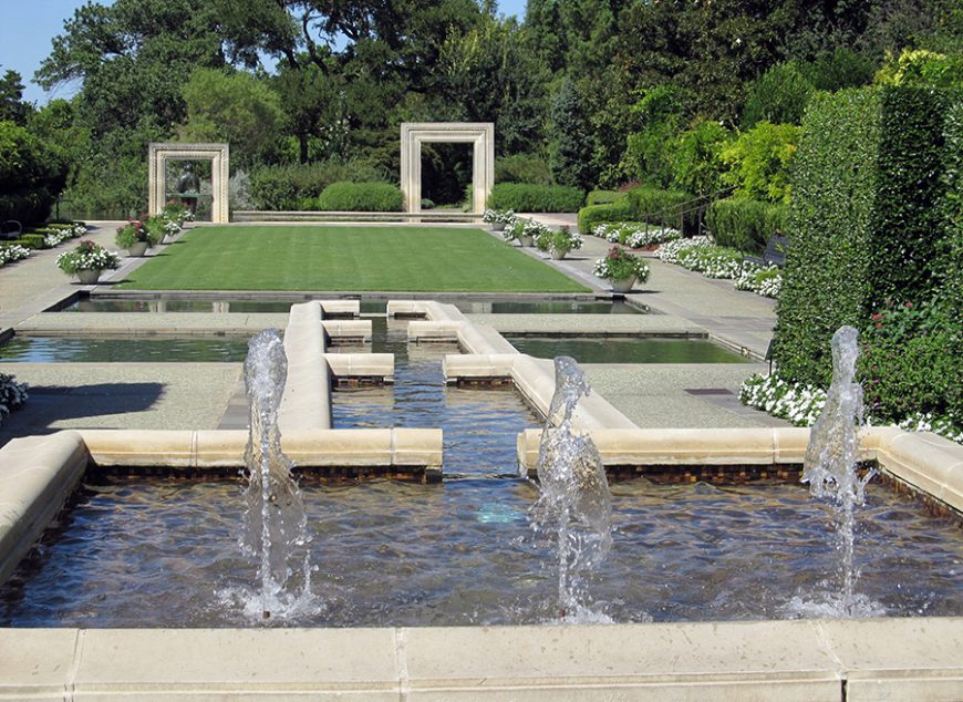 Styles de jardins - jardin moderne avec fontaine et bassin
