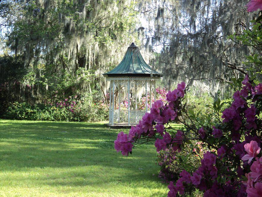 Styles de jardins - Jardin romantique avec un gazebo