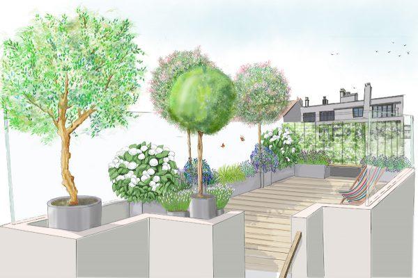 Proposition pour l'aménagement d'une terrasse à Montrouge