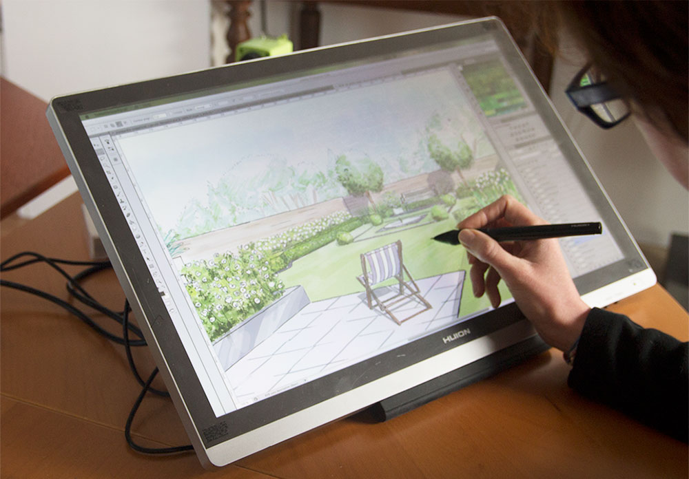 travail sur tablette graphique - un des avantages mis au service des professionnels